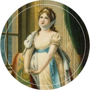 """Portrait der """"Königin der Herzen"""" Luise von Preußen, Patronin des Hauses Louisa's Place"""