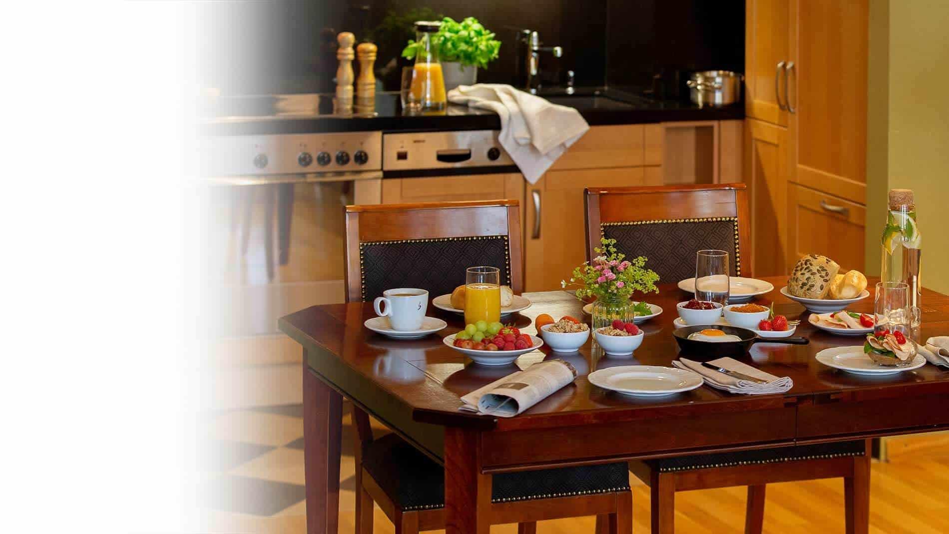 Küche in der Grand Suite des Louisa's Place