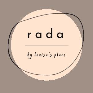 rundes Logo für rada im Louisas Place